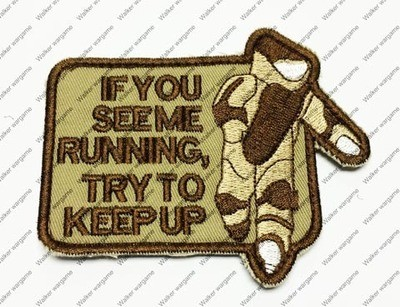 B1436 US EOD Boom Square Chapter Morale Patch - Keep Up Patch Tan Colour