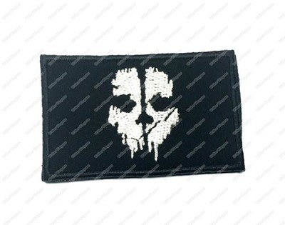 PB887 Call Of Duty 10 COD10 Ghost Team Patch With Velcro - Black Colour