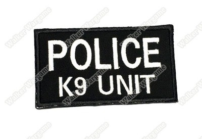 WG023 Police K9 Unit Patch With Velcro - Full Colour