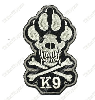 WG024 Military K9 unit Patch With Velcro - Full Colour