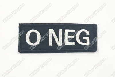 WG042B US Army O NEG Blood Type Patch With Velcro - SWAT Black