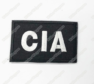 WG093 US Central Intelligence Agency CIA Patch With Velcro - Black Color