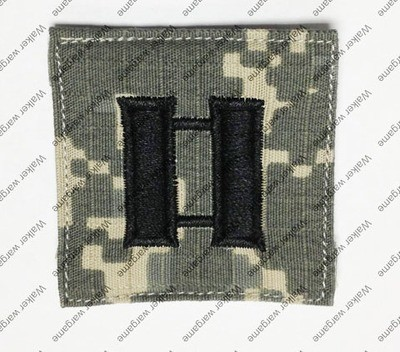 B343 US Army O-3 Captain (Capt) Rank Patch With Velcro - ACU Colour