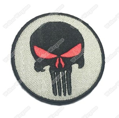 WG001 US Navy SEAL Team 6 Devgru Punisher Red Eye Patch With Velcro - ACU Color