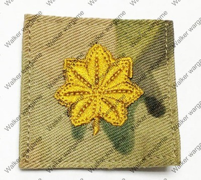 B173 US Army O-4 Major (Maj) Rank Patch With Velcro - Multicam Colour