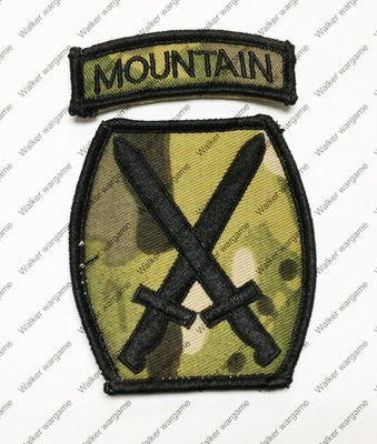 B159 US Army 10th Mountain Division Patch With Velcro - Multicam Colour