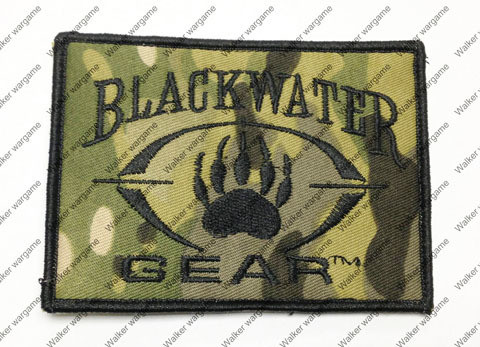 B140 Black Water Private Military Company Patch With Velcro - Multicam Colour