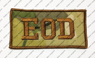 B877 US Army EOD Unit (Explosive Ordnance Disposal) Patch With Velcro - Multicam Colour