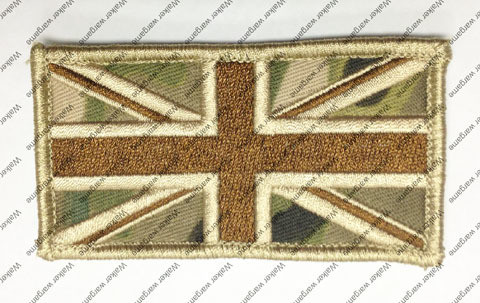 B2737 UK British Flag Patch With Velcro - Multicam Colour