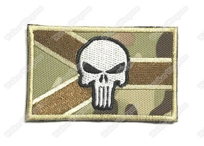 WG059 Navy SEAL Punisher RSA Flag Patch With Velcro - Multicam Color