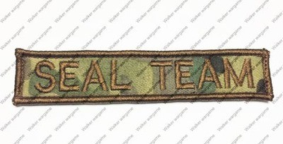 Q099 US Navy SEAL Team Tag Patch With Velcro - Multicam Colour