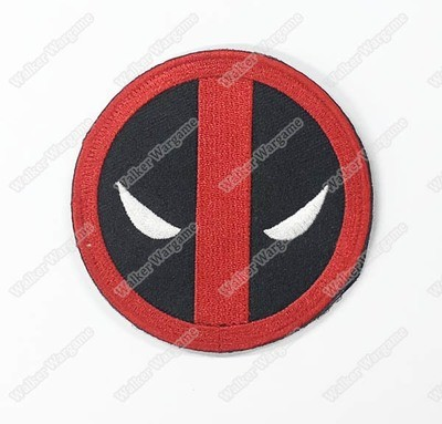 WG113 Deadpool Head US Army Chapter Morale Patch With Velcro - Full Color