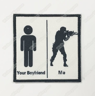 WG121 Your Boyfriend VS Me Chapter Morale Patch With Velcro - Full Colour