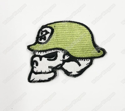 WG100 Skull Helmet Chapter Morale Patch With Velcro - Full Colour