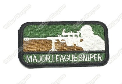 WG028 Major League Sniper Patch With Velcro - Full Colour