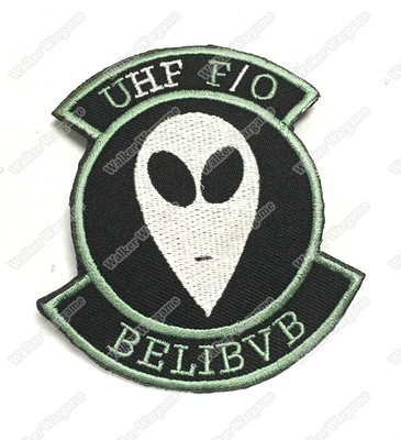 WG054 US Navy UHF F/O UFO Fleet Communications Believe Space Black Ops Patch With Velcro - Green Color
