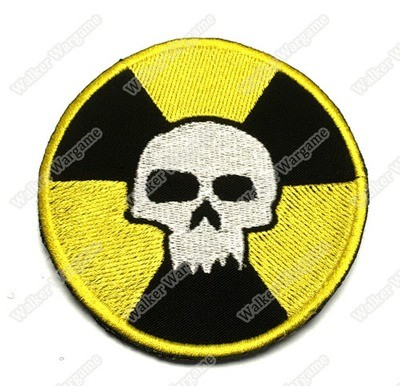 WG035 Nuclear Skull Patch With Velcro - Full Colour