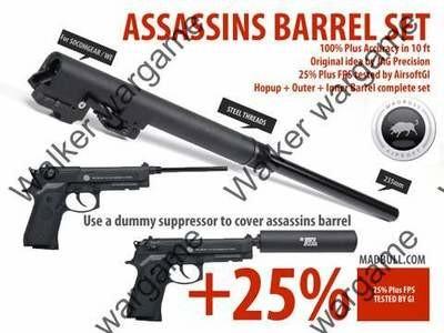 Madbull Assassins 235mm Barrel Set (With Chamber) for GBB Pistol