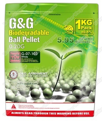 G&G High Quality Precision Grade Biodegradable 0.20g BB - 5000 rds