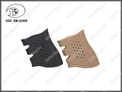 Tactical Glock Pistol Rubber Grip - Black Tan