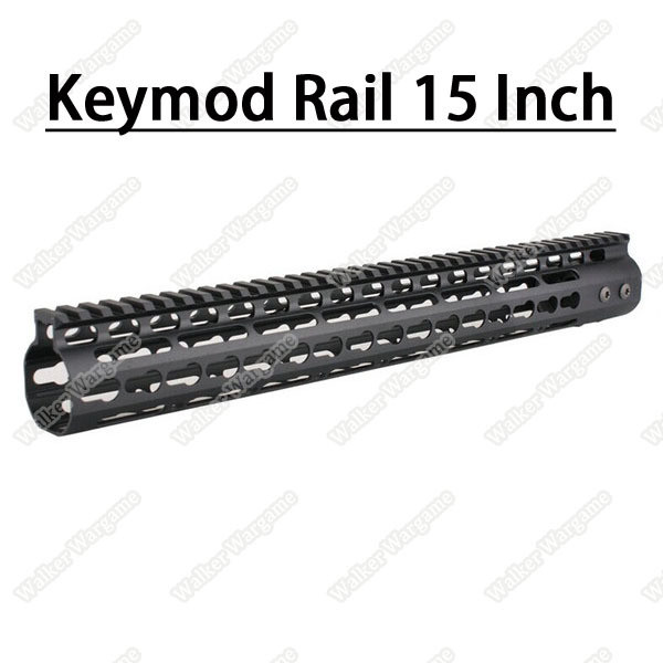 Tactical 15 Inch Free Float Aluminum KeyMod RIS Metal Handguard with Top Rail