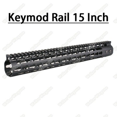 Tactical 15 Inch Free Float Aluminum KeyMod RIS Metal Handguard with Top Rail