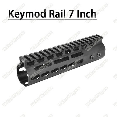 Tactical 7 Inch Free Float Aluminum KeyMod RIS Metal Handguard with Top Rail