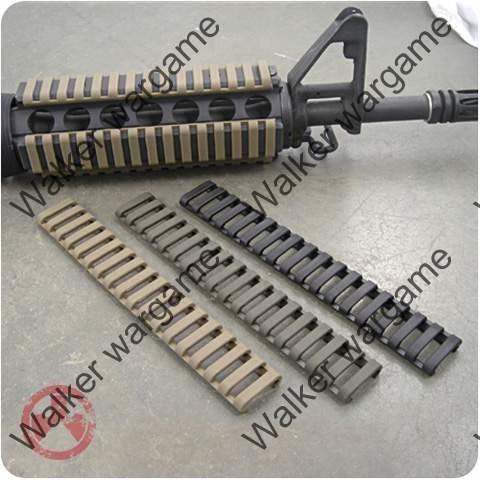 Picatinny Rail Ladder Rail Protector 4 In Set- Tan & Black