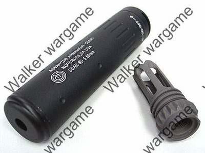 SCAR-SD QD Silencer w/SCAR Flash Hider - Black & Tan