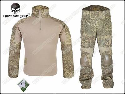 Combat Set Shirt & Pants Build in Elbow & Knee Pads - Special Force Badlands Camo BLD