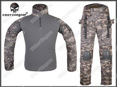 Combat Set Shirt & Pants Build in Elbow & Knee Pads - US Army Digital ACU