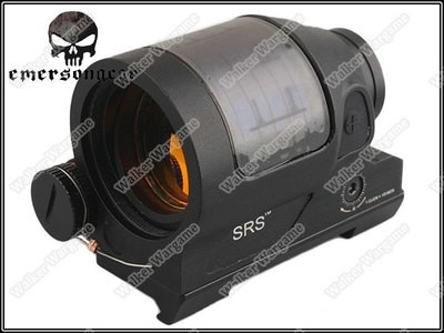 EMERSON SRS Red Dot Sight 1x38 Solar Sight - Dual Power Supply Black