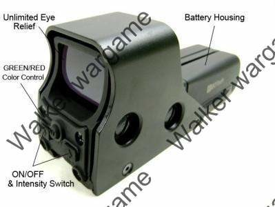 552 Red/Green Reflex Dot Holographic Sight - Black & Tan