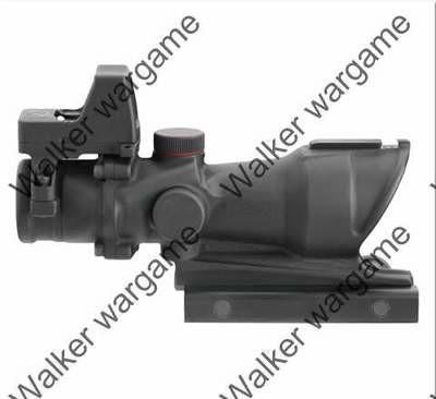 4X Enhanced Zoom Cross Sight Scope W Red Dot - Bl