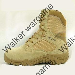 Delta Side ZIP Combat Assault Army Boots - Tan