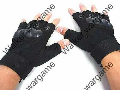 O Style Half Finger Aaaault Gloves - BL