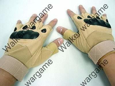 O Style Half Finger Aaaault Gloves - Tan