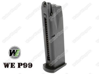 WE 22rd Pistol Magazine for Walther P99 Green Gas Mag Magazine Black