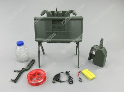 Airsoft M18 Claymore Mine With Wireless Remote, Spring Power Shot Out BB