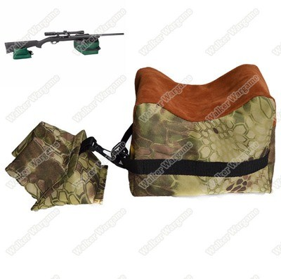 Shooting Rest Bags, Front Rear Shooting Sand Bag Sandbag for Hunting Hunter Shooter - Mandrak Camo