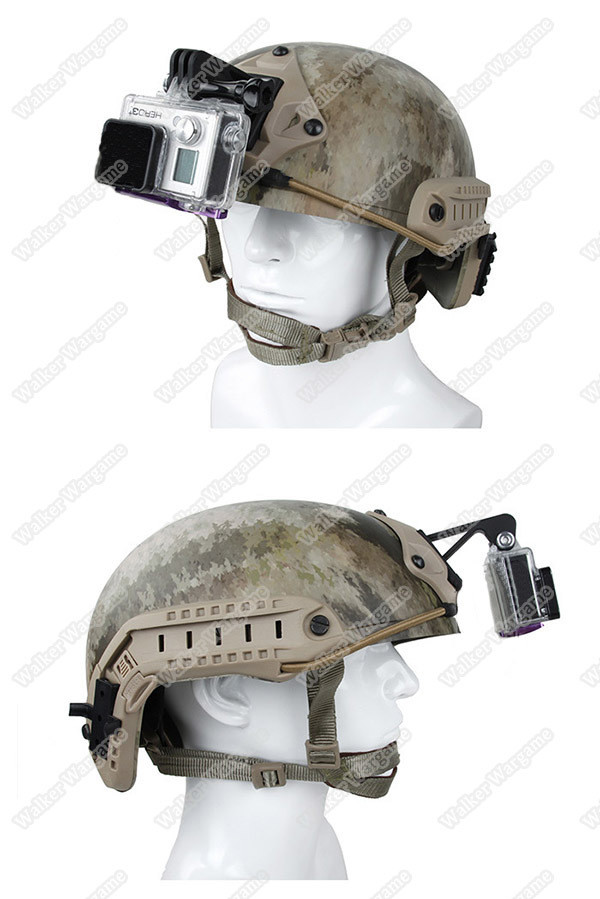 Gen2 Tan Go Pro Camera NVG Helmet Mount for Gopro hero4 Accessories hero3+  hero3 gopro NVG mount Base With screws