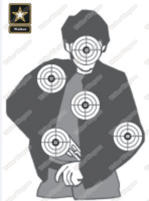 A3 Size Paper Shooting Target Pistol,Rifle,Airsoft Target - IPSC IPDA