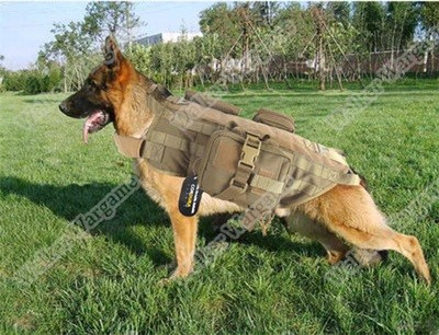Tactical Police K9 Mil Spec Dog Molle Harness Vest