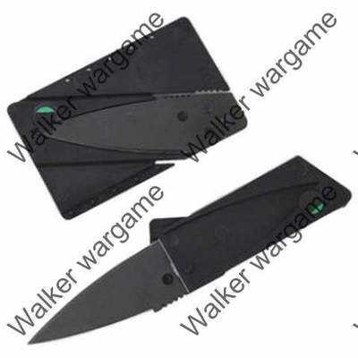 Tactical Cardsharp Folding Credit Card Knife - Black