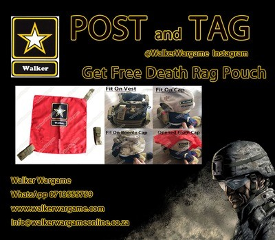 WWG Airsoft Molle Kill Rag Death Rag Pouch - Black