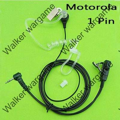 FBI Style Covert tube Earpiece - Motorola 1 Pin