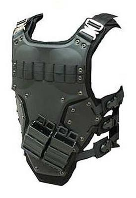 TF3 Soft Shell Tactical Vest High Speed Body Armor - SWAT Black