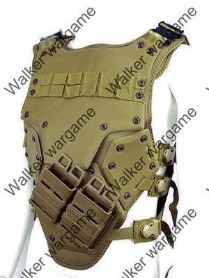 TF3 Soft Shell Tactical Vest High Speed Body Armor - Desert Tan