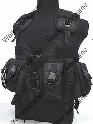 Tactical Navy Seal Combat Modular Assault Vest - SWAT Black
