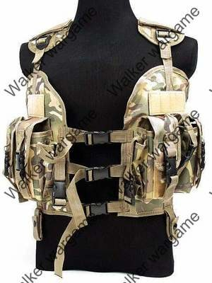 Tactical Navy Seal Combat Modular Assault Vest - Special Force Multi Camo